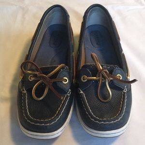 Sperry blue glitter Topsiders